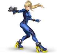 Art Samus sans armure bleu Ultimate