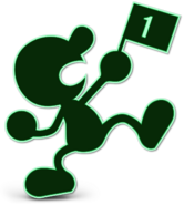 Art Mr. Game & Watch vert Ultimate