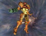 Samus sans armure Smash final Brawl 4