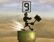 Mr. Game & Watch attaques Brawl 1