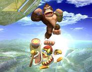 Donkey Kong attaques Brawl 2