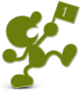 Art Mr. Game & Watch vert jaune Ultimate