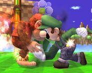 Luigi attaques Brawl 2