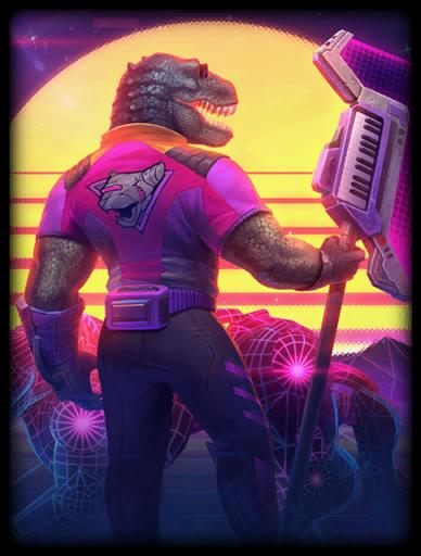 Radical Rex Skin card