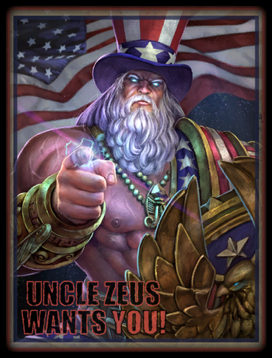 Uncle Zeus Skin card