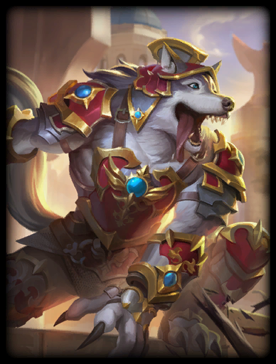 Heroic Husky Skin card