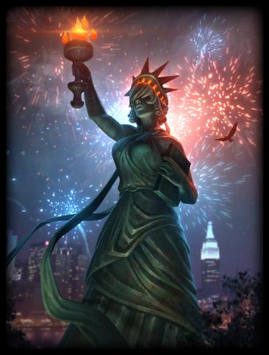 Lady Liberty Skin card