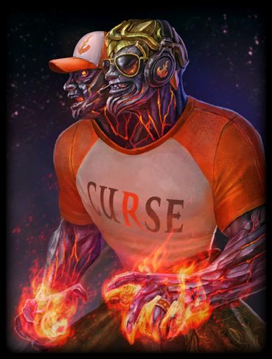 Curse Agni Skin card