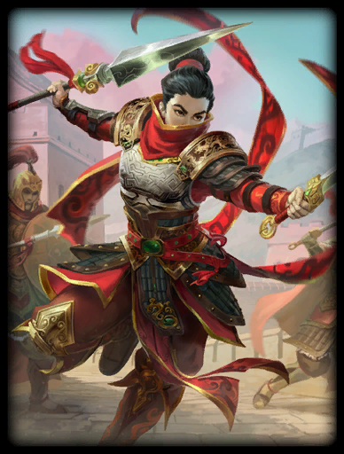 Mysterious Warrior Skin card