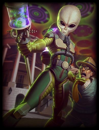 Galactic Invader Skin card