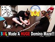 SML Made A HUGE Domino Maze!!! *BTS*