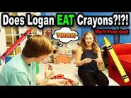 😱 Does Logan EAT Crayons?!?! *BTS* 😱