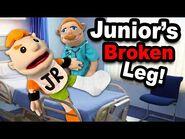 SML Movie- Junior's Broken Leg!
