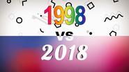 1998 VS 2018 title card