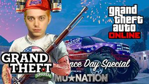 The video thumbnail, featuring an edited Lasercorn (real name: David Moss)