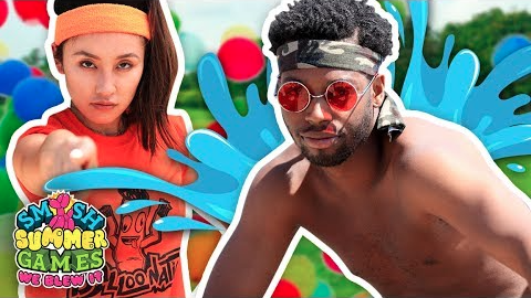 GET WET SLINGSHOT CHALLENGE (Smosh Summer Games)