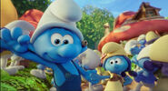 Smurflily and Handy dancing together