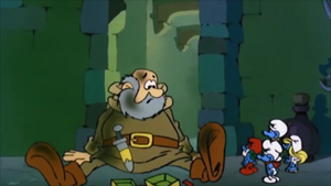 Mr. Poppery and The Smurfs.png