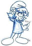 AHS Tricky Smurfette Profile 1 Sketch