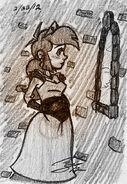 Expectant Queen Falla Sketch - Smurfs