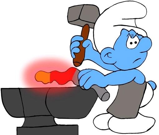 Blacksmith Smurf (Glovey Story)