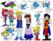Smurfs Sketch Dump Page - Smurfs