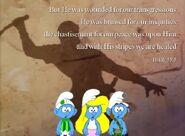Three Smurfs And A Roman Guard 2