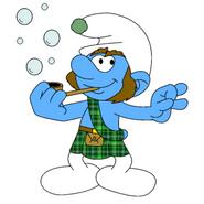 Duncan Blowing Soap Bubbles