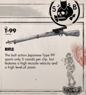 Type99 Sniper-Rifle in Zombie-Army Trilogy