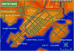 Map of South Town (In Art of Fighting 2)