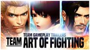 "KOF XIV - Team Gameplay Trailer 4 ""ART OF FIGHTING"""