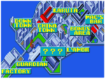 Stage's Map In Art of Fighting