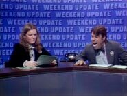 Jane Curtin and Dan Aykroyd on Weekend Update