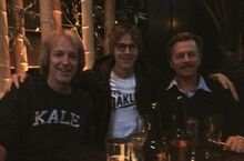 From left to right- Fred Wolf, Dana Carvey, and David Spade.jpg