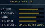 SOCOM 552 Stats