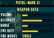 SOCOM II Mark 23 Stats Extras