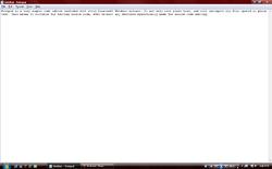 Screenshot of Notepad.