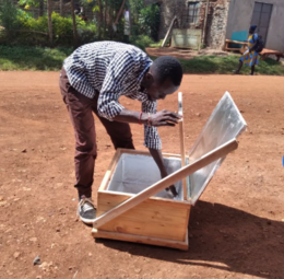Solar box cooker production 4, Farmers With a Vision, 10-8-21