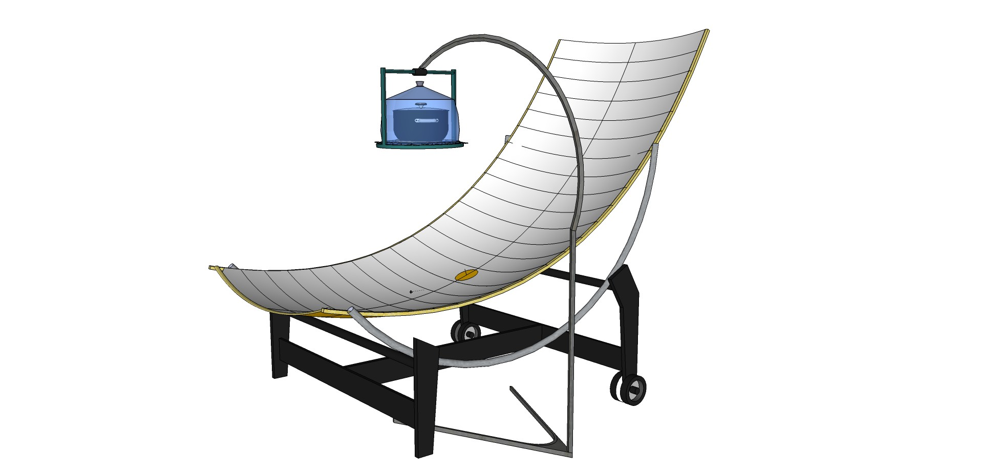 Parabolic solar cooker with circular tilting feature