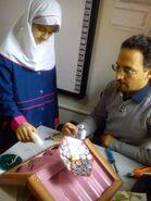 Amir Komarizade with student, 12-1-15