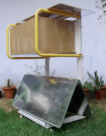Solar Oven K5, closed with insulated cover, 10-23-14