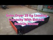 Solar Dryer With Electric Backup - Solar Dryer Business Model - Making Powder Using Solar Dryer-2