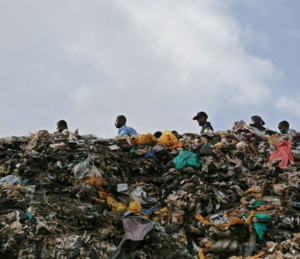 Plastic bags in trash in Kenya, photo credit- Daniel Irungu-EPA.png