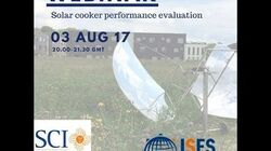 Webinar - Solar cooker performance evaluation