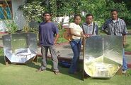 East Timor students with Girassol solar cookers