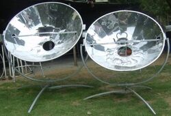 Olympus Flower solar cookers.jpg