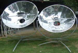 Olympus Flower solar cookers.jpg