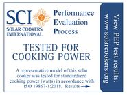 PEP cooker tested label