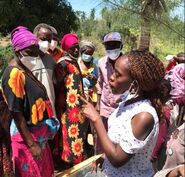 Penina Nzioka solar cooking demo., Kwale co. Kenya, 9-6-21