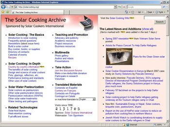 The precursor to the Solar Cooking Wiki
